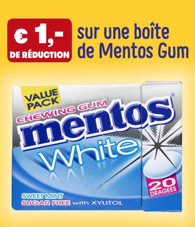 Cashback Mentos Chewing Gum 1€ remboursé sur myShopi