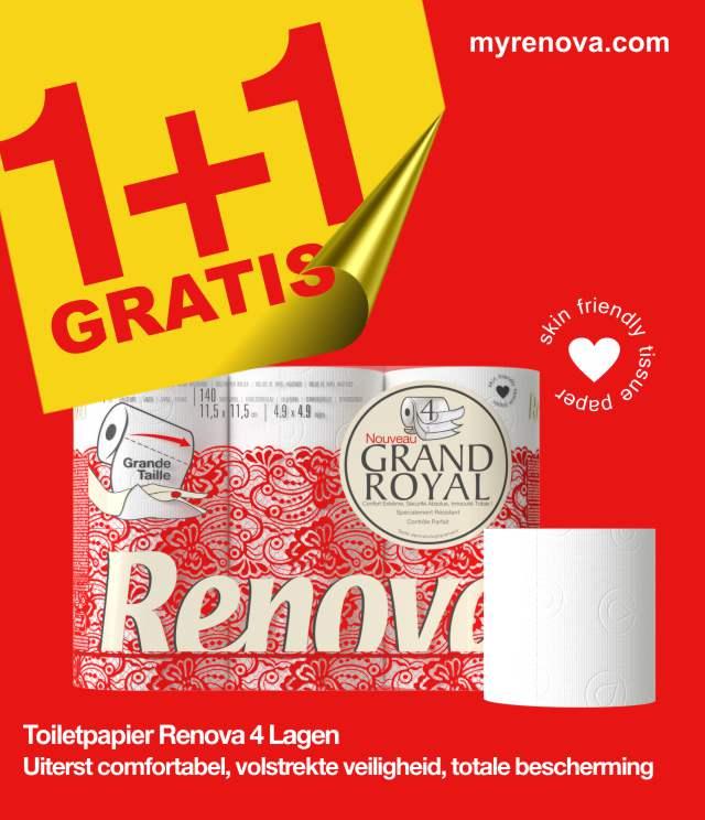 Renova Grand Royal 1+1 Gratis cashback op myShopi